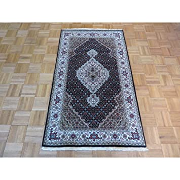 Amazon Com Oriental Rug Galaxy Black Wool And Silk Hand Knotted