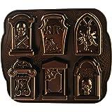 Nordic Ware 91848 Cast Bundt Bakeware Tombstone Cakelets, Silver