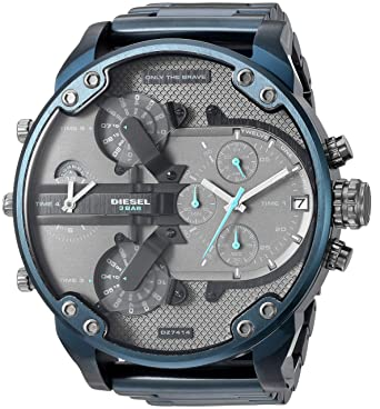 0f4a481665eb Diesel Men s Mr Daddy 2.0 Analog-Quartz Watch with Stainless-Steel-Plated  Strap