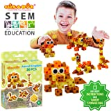 Click-A-Brick Animal Kingdom 30pc Building Blocks Set | Best STEM Toys for Boys & Girls Age 4 5 6 Year Old | Kids 3D Creative Puzzle Fun | Top Educational Learning Gift For Children Ages 4 - 12