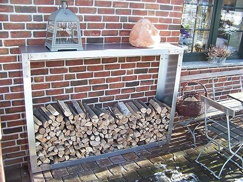 Brennholzregal außen  Kaminholzregal feuerverzinkt, Brennholzregal, Lagerregal, für ...