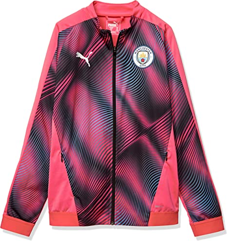 PUMA 2019 2020 Manchester City Stadium Jacket (Peach) Kids
