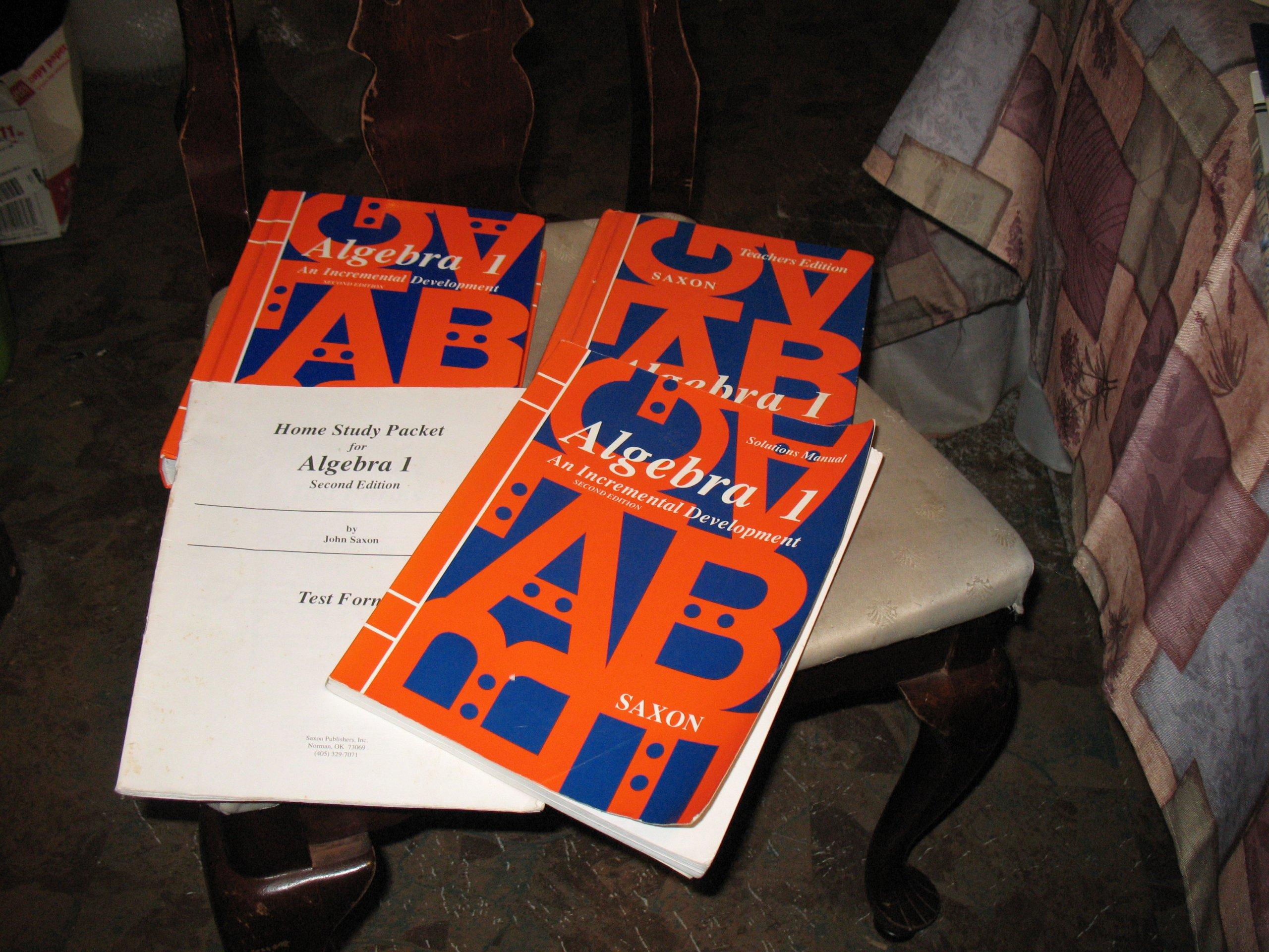 Saxon Math**Algebra 1 set**2nd Edition**Textbook, Test Forms