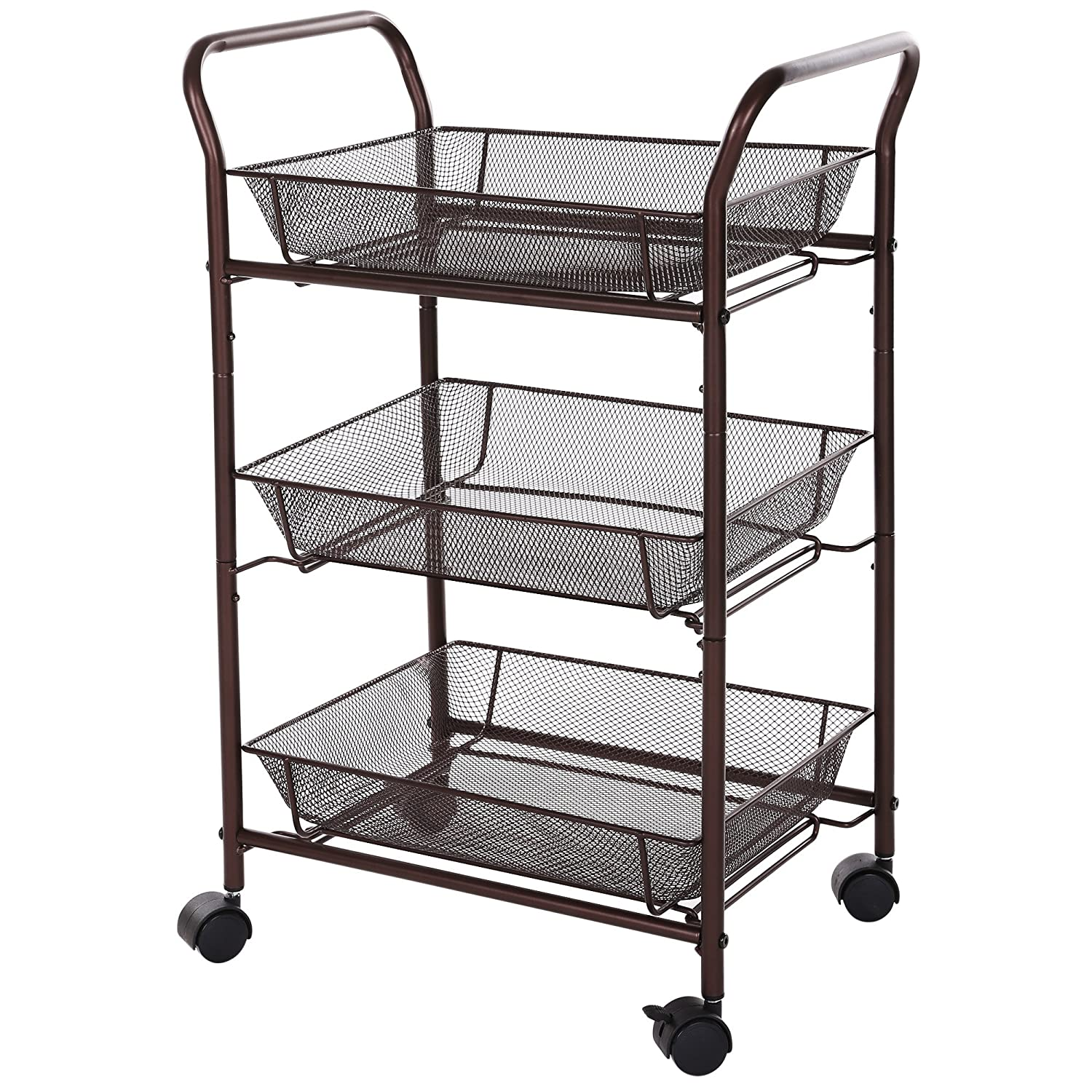 rolling storage carts bathroom trolley rolling kitchen storage cart amp baskets on 25642