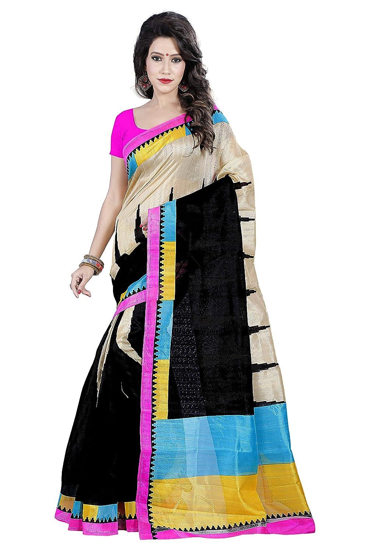 53bb97659d5a18 Florence Women s Bhagalpuri Silk Saree (FL-11865)  Amazon.in  Clothing    Accessories