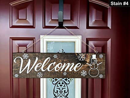 Amazoncom Mildred Rob Welcome Door Sign Winter Decor Christmas