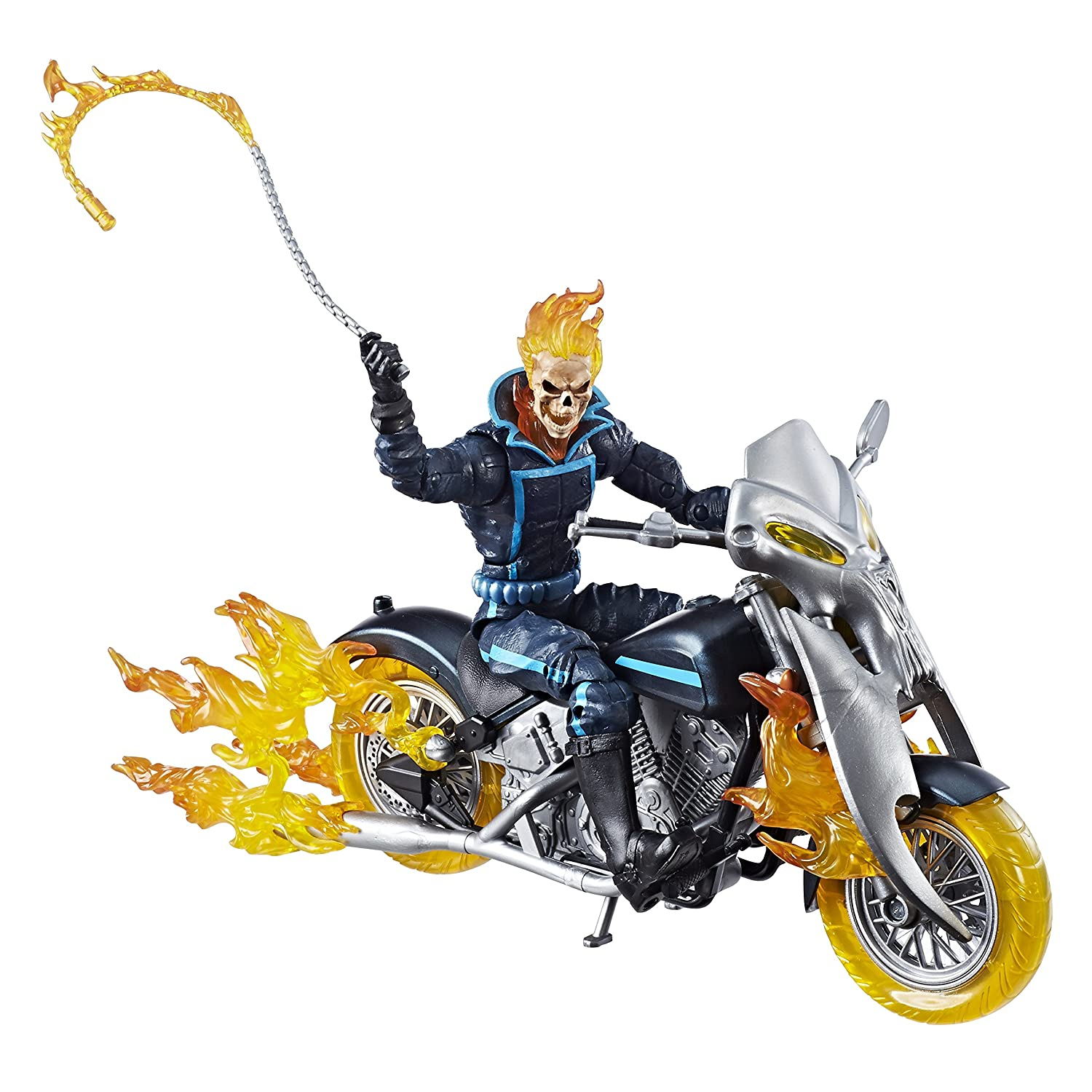Marvel Legends Series 6-inch Ghost Rider with Flame Cycle Hasbro E1373 Action Figures