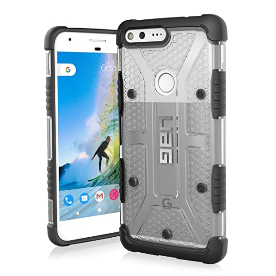 best sneakers f33dc 8b87e UAG Google Pixel XL [5.5-inch screen] Plasma Feather-Light Rugged [Ice]  Military Drop Tested Phone Case