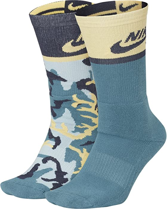 348f6c75b Nike SB Energy Crew SX6848 Skateboarding Socks (2 Pair) (LG (Men's Shoe