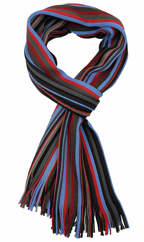 Rotfuchs Sciarpa in maglia a righe multicolore sciarpa uomo sciarpa donna rosso tortora blu 50/% lana 50/% poliacrilico