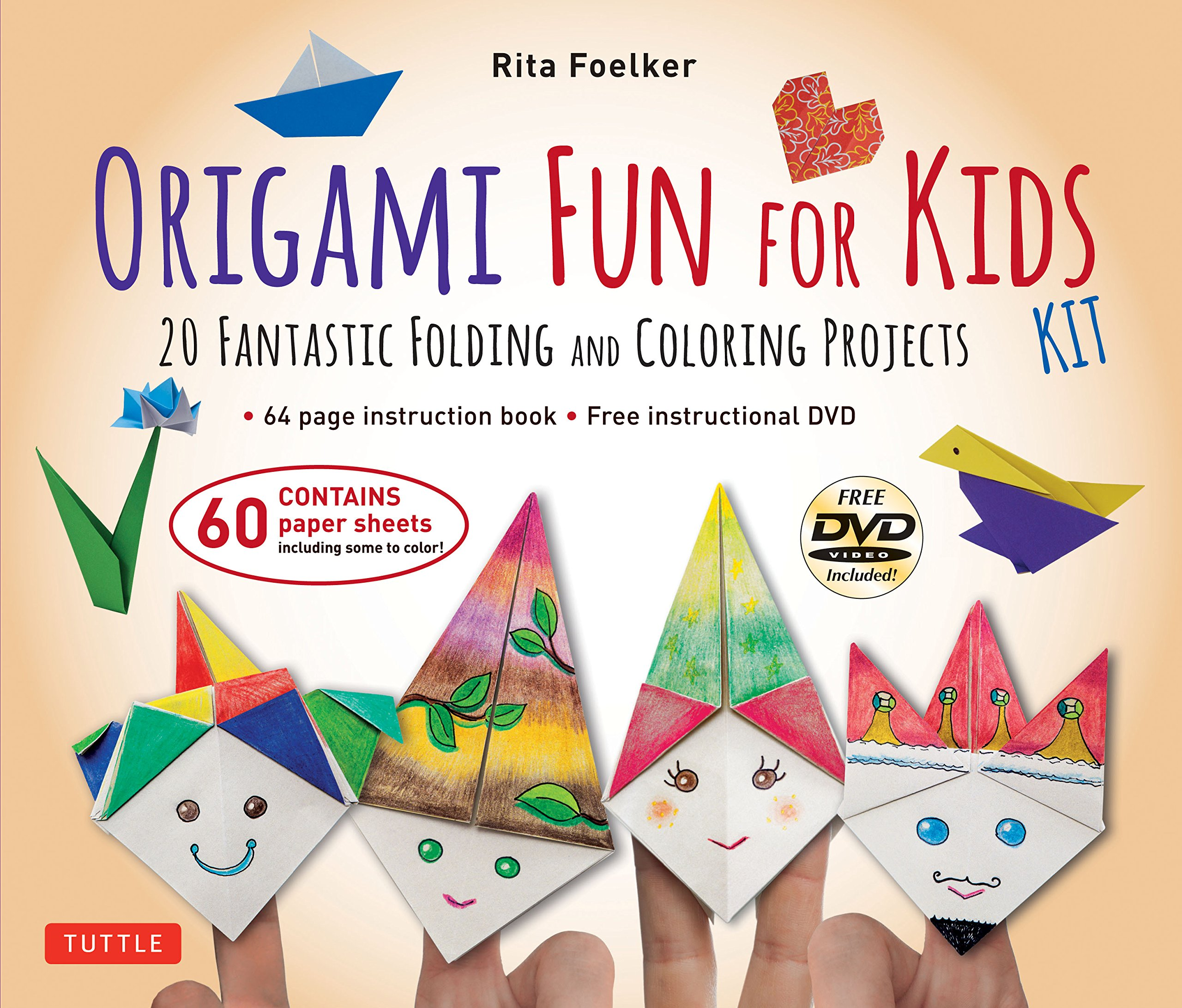Amazon origami fun for kids kit 20 fantastic folding and amazon origami fun for kids kit 20 fantastic folding and coloring projects kit with origami book fun easy projects 60 origami papers and jeuxipadfo Choice Image