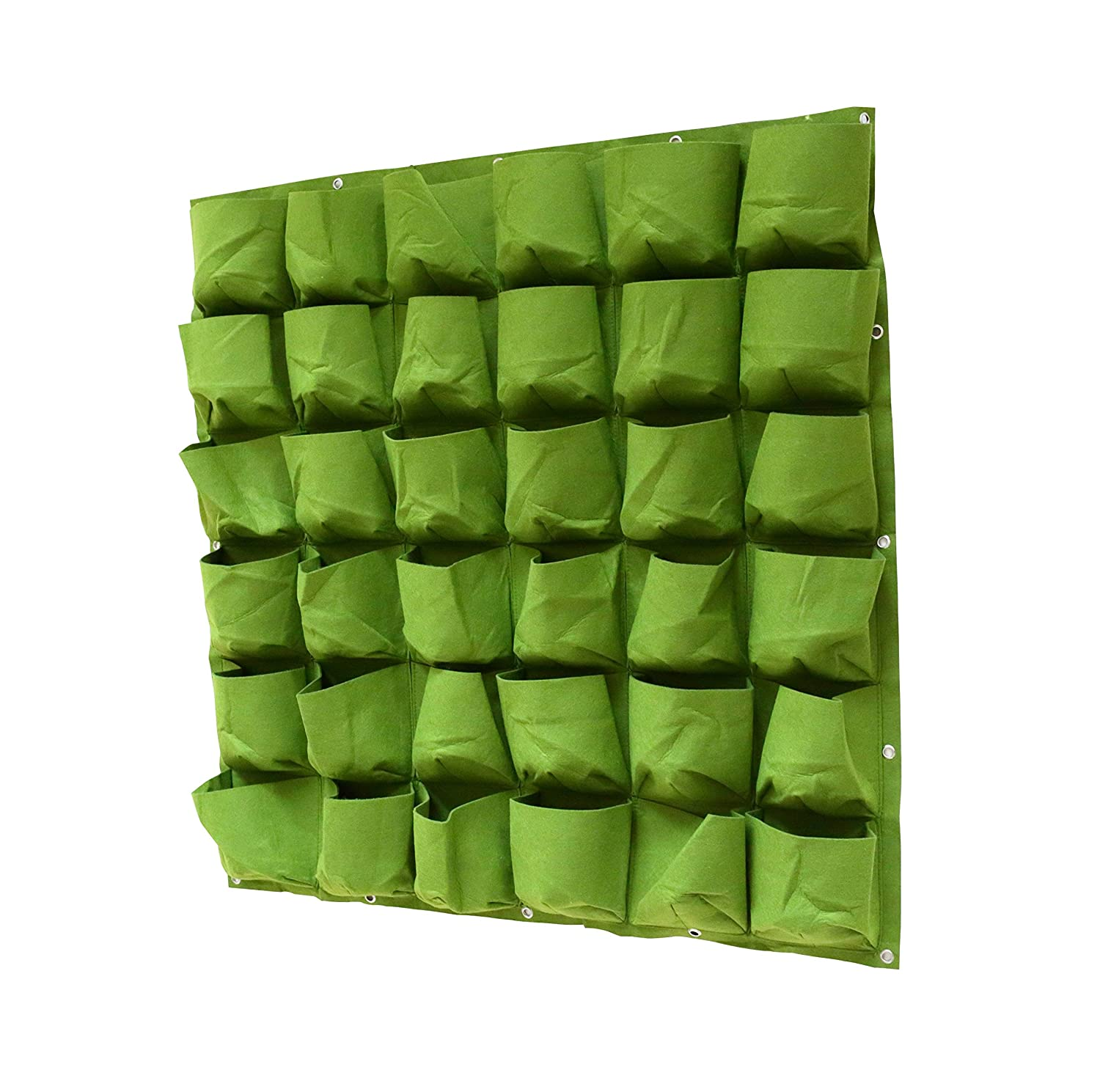 Amazon.com: Prudance Vertical Wall Garden Planter, 36 Pockets, Wall Mount  Planter Solution ( 40 In X 40 In ): Garden U0026 Outdoor