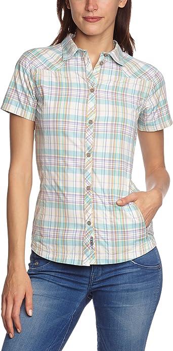 SALEWA Shirt Shira Dry Short Sleeve - Camisa/Camiseta para Mujer, Color Multicolor, Talla 48