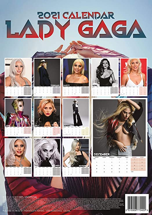 Lady Gaga 2021 Calendar A3: Amazon.co.uk: Office Products