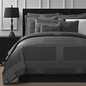 Comfy Bedding Frame Jacquard Microfiber Full 5-piece Comforter Set, Gray