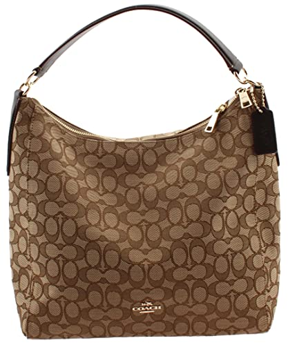 7d62c872c5 Amazon.com  Coach Outline Signature Celeste Hobo Shoulder Crossbody Bag  Purse Handbag  Shoes