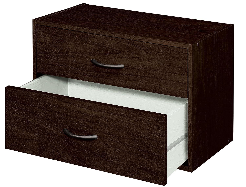 Exceptionnel Amazon.com: ClosetMaid 1568 Stackable 2 Drawer Horizontal Organizer,  Espresso: Home U0026 Kitchen