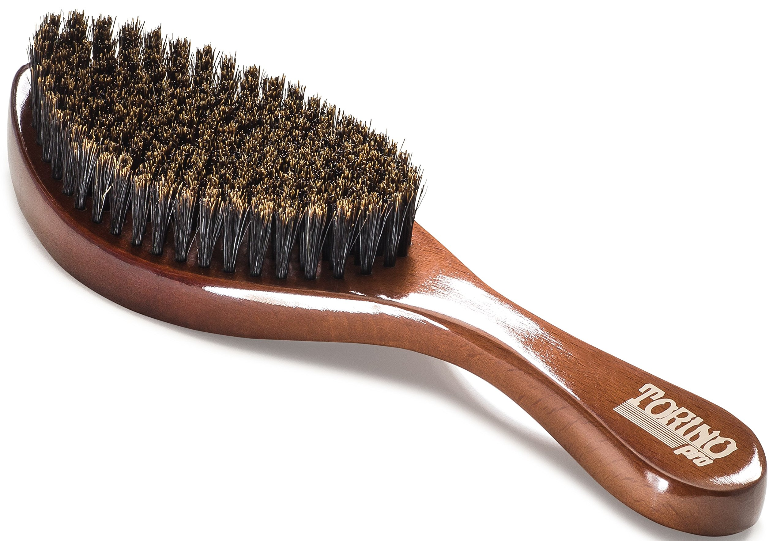 Torino Pro Wave Brush #620 By Brush King - Medium Soft Curve 360 Waves Brush