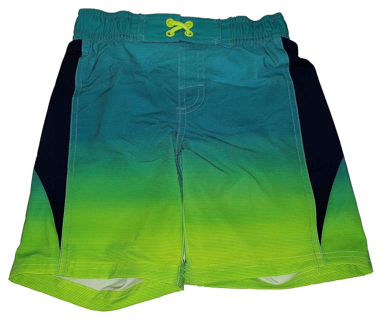 Wonder Nation Aquacade Blue Color Splice Swim Trunk Shorts