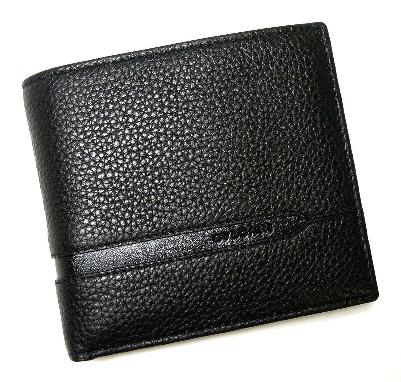 [ブルガリ]BVLGARI 財布 二つ折 グレインカーフ メンズ ブラック オクト 36964 BG-1299 [並行輸入品] B071HDTTG2