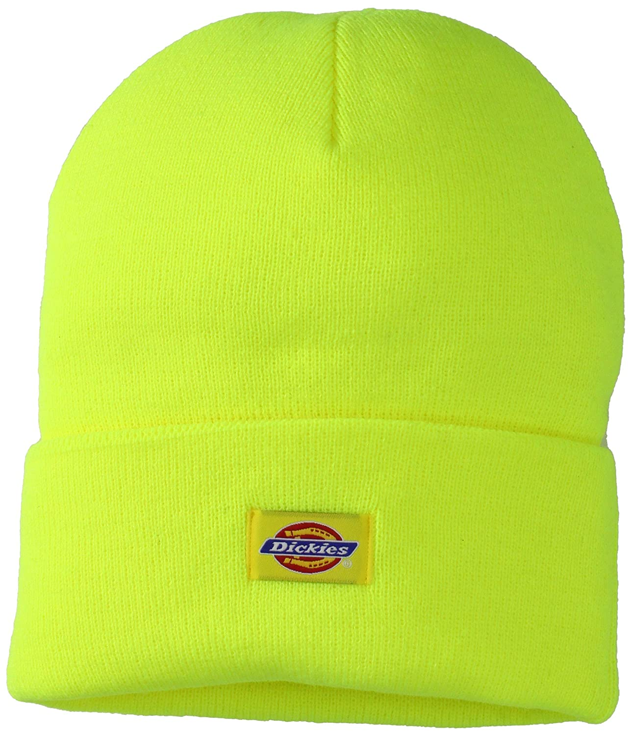Dickies Mens 14 Inch Cuffed Knit Beanie Hat Black One Size Bioworld  KC145347DIC0 679dc90144a7