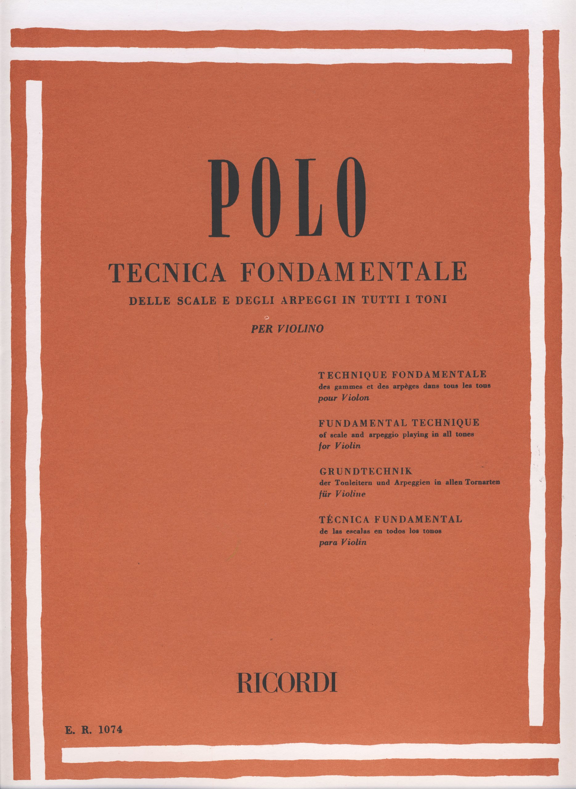 POLO E. - Tecnica Fundamental de las Escalas y Arpegios en todos ...
