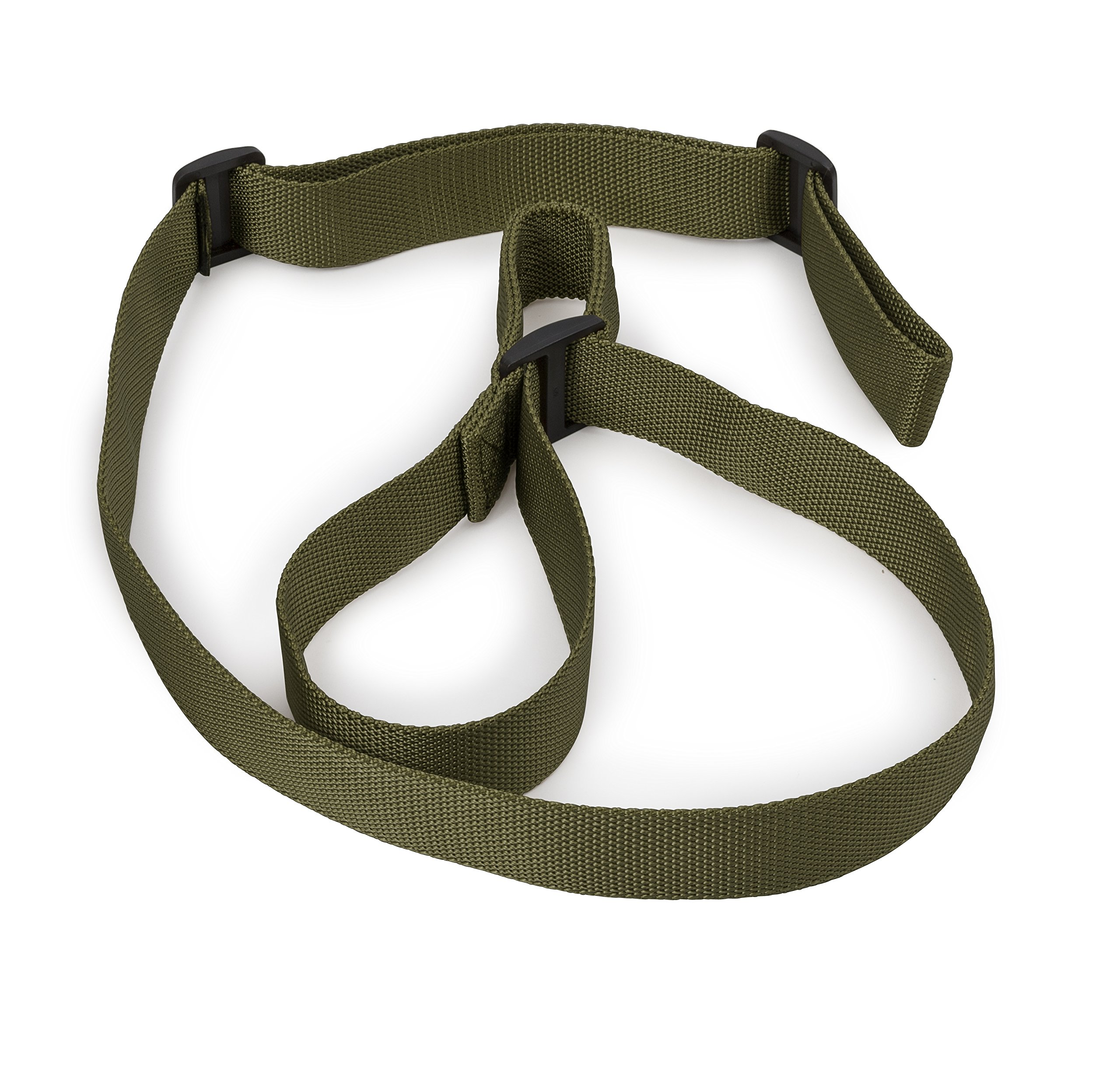 STI 2 Point Rifle Sling - Adjustable Gun Sling with FAST-LOOP and 1.25 inch Webbing for Hunting Sports and Outdoors (GI Green/Hunter Green) by STI