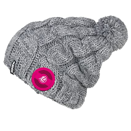 443f88121cd Earebel Lifestyle  Mipeal  Braided Gray Beanie with Built-in Wireless Black  Studio-