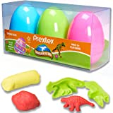 "Prextex Jumbo 4"" Surprise Easter Eggs Filled with Clay Dough and 3D Dinosaur Toys Shapes Fun Dough Eggs"