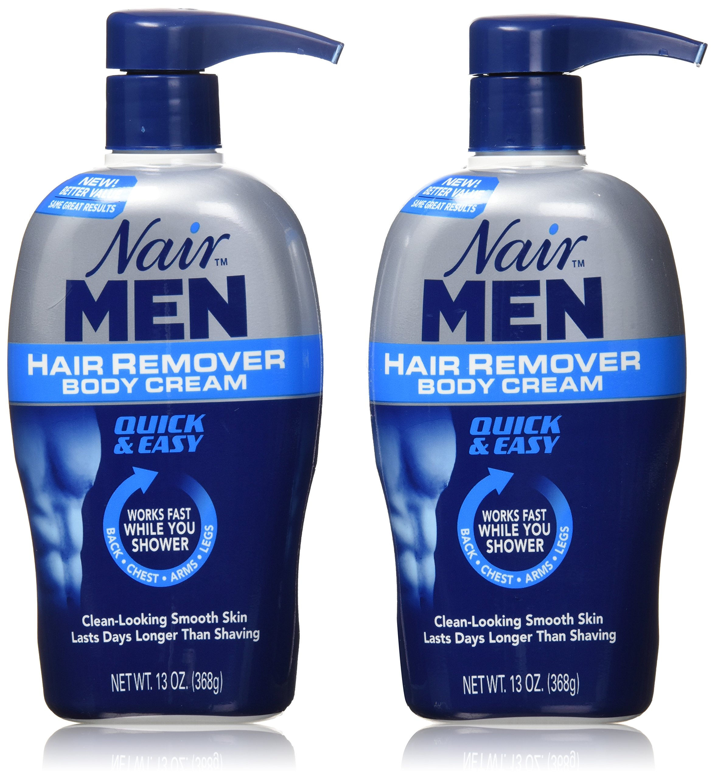 Nair Men Hair Removal Body Cream 13 oz (Pack of 2)