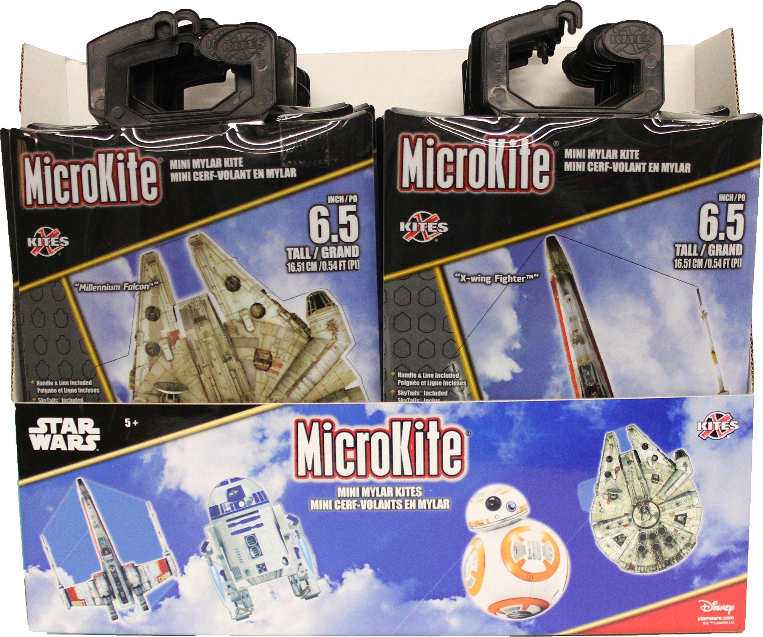 X-Kites MicroKites Star Wars Assortment of Mylar Mini Kites 6-1/2'' Tall, 24-Piece PDQ by X-Kites (Image #1)