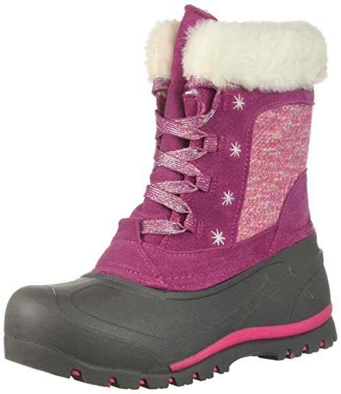 Northside Girls' Snowbird Snow Boot, Berry, 12 Medium US Little Kid