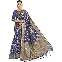 HAOK Sarees voor vrouwen Banarasi Art Zijde Indiase Gift Sari | Traditionele bruiloft geweven Saree met niet-gestikte…