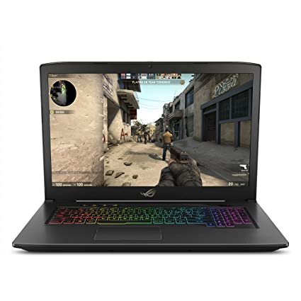 """ASUS ROG Strix GL703VM Scar Edition 17 3"""" 120Hz Gaming Laptop, GTX 1060  6GB, Intel Core i7-7700HQ 2 8 GHz, 16GB DDR4 RAM, 256GB PCIe SSD + 1TB  SSHD,"""