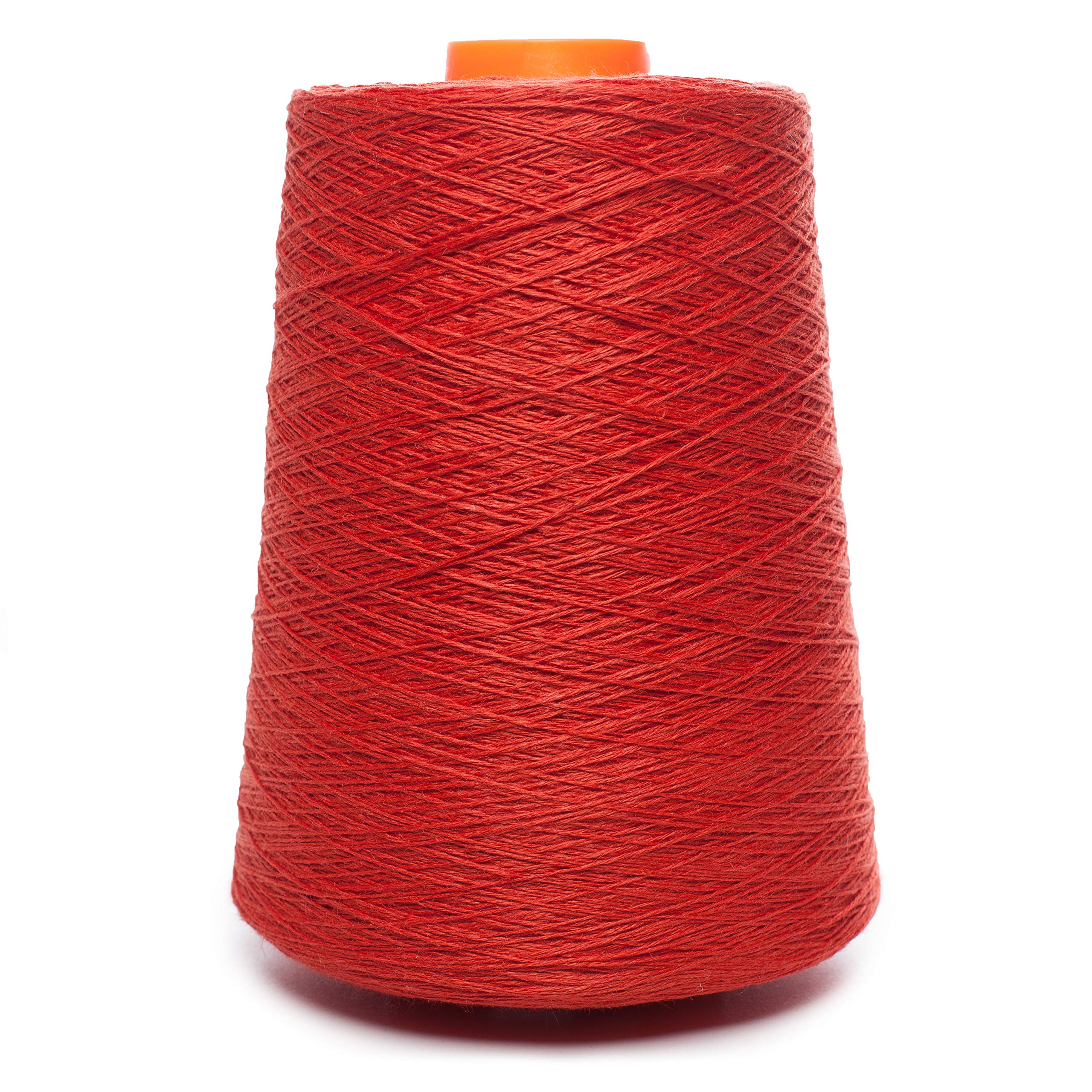 Linen Yarn Cone - 100% Flax Linen - 1 LBS - Flame Red - 3 PLY - Sewing Weaving Crochet Embroidering - Euroflax Linen Yarn - 3.000 Yards