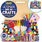 Horizon Group USA 1000+ Pieces Ultimate Box Of Crafts,Homeschool Preschool DIY Craft Kit Set For Kids & Toddlers.Includes Foa
