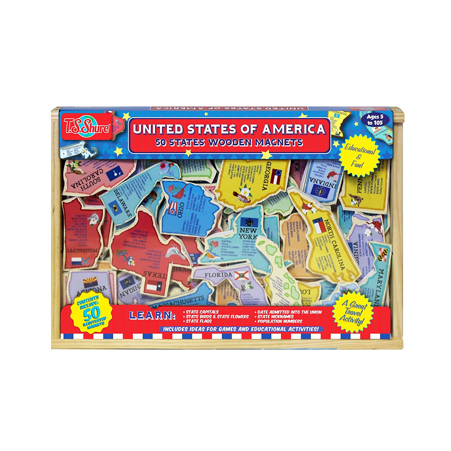 Amazon.com: T.S. Shure United States of America: 50 States ... on 50 states magnets, 50 states stickers, 50 states colors, 50 states homework, 50 states vocabulary, 50 states clip art, 50 states coloring, 50 states and capitals puzzle, 50 states math, 50 states printable,