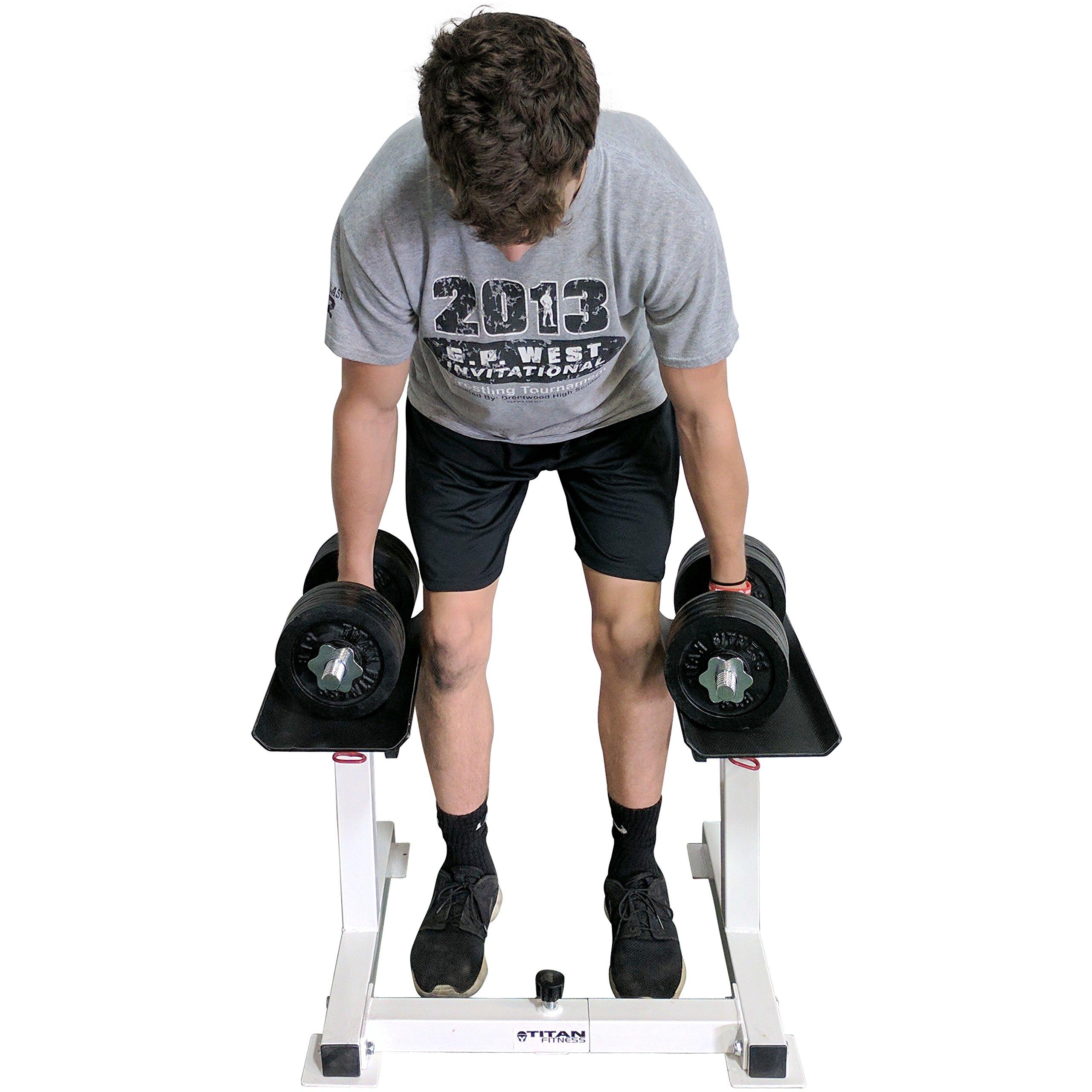 Titan Adjustable Height Dumbbell Holder by Titan Fitness (Image #7)