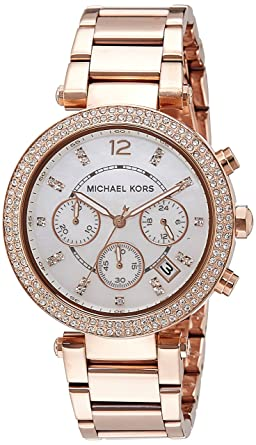 ea13c6b19fde Amazon.com  Michael Kors Women s Parker Rose Gold-Tone Watch MK5491 ...