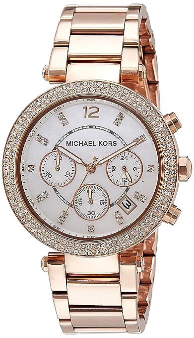 9edbbcb3c8d5 Amazon.com  Michael Kors Women s Parker Rose Gold-Tone Watch MK5491  Michael  Kors  Watches