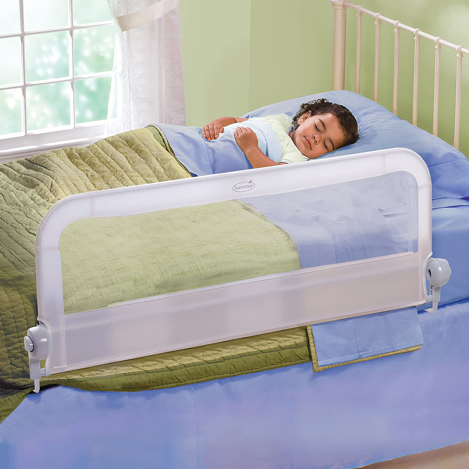 Amazon Summer Infant Sure And Secure Folding Bedrail White Childrens Bed Safety Rails Baby