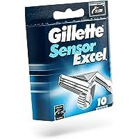 Gillette Sensor Excel Razor Blades for Men, Pack of 10 Refill Blades