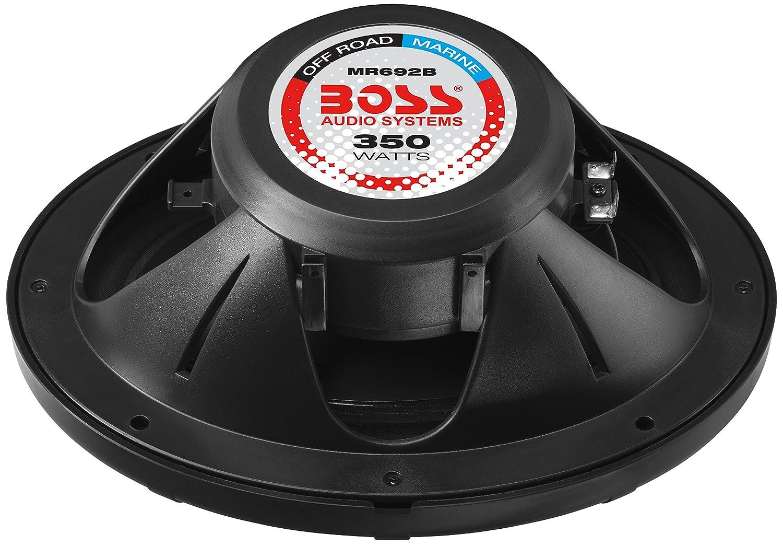 BOSS Audio MR692B 350 Watt Full Range 2 Way Weatherproof Marine Speakers Sold in Pairs 6 x 9 Inch Per Pair
