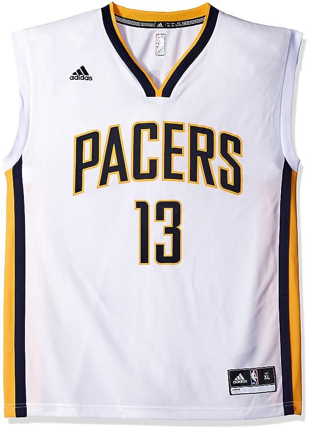 Adidas NBA Indiana Pacers Paul George # 24 de Hombre réplica de la Camiseta, tamaño Mediano, Color Blanco: Amazon.es: Deportes y aire libre