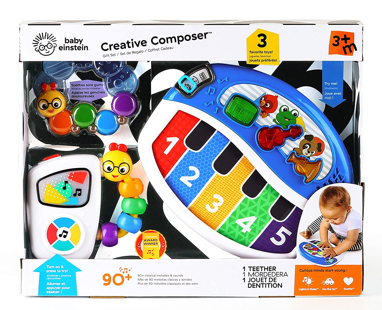 Baby Einstein Creative Composer Musical Toy Gift Set, Ages 3 Months +
