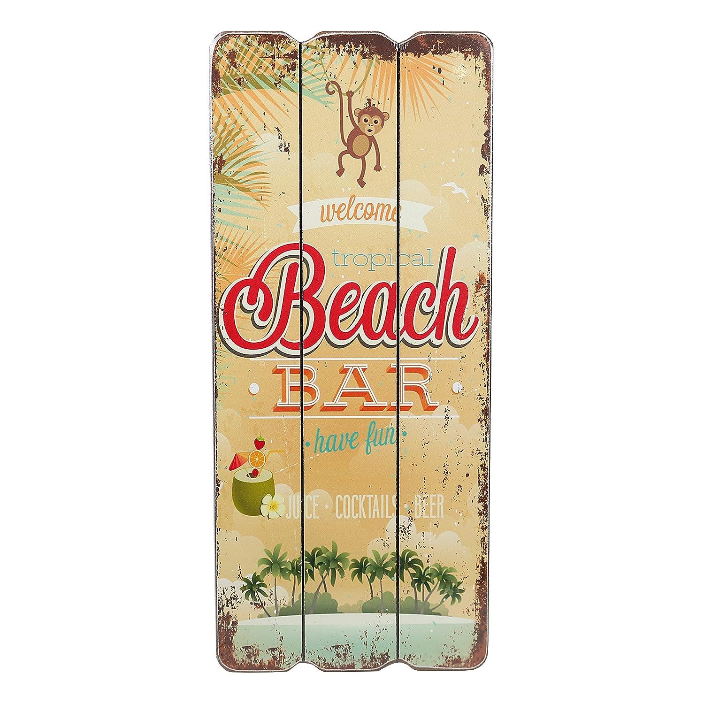 Amazon.de: Holzschild BEACH BAR Tropical Bar Wandschild MDF Wanddeko ...