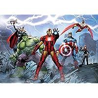 AG Design FTD 2230 Avengers Marvel, papier fotobehang - 360x254 cm - 4 delen, papier, multicolor, 0,1 x 360 x 254 cm