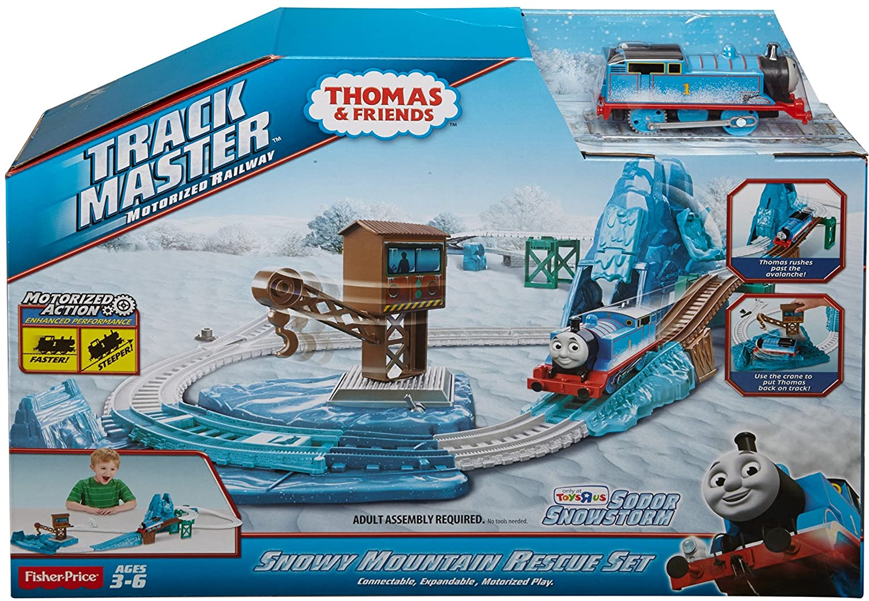 Fisher price thomas amp friends trackmaster treasure chase set new - Amazon Com Fisher Price Thomas Friends Trackmaster Motorized Railway Snowy Mountain Rescue Set Toys Games