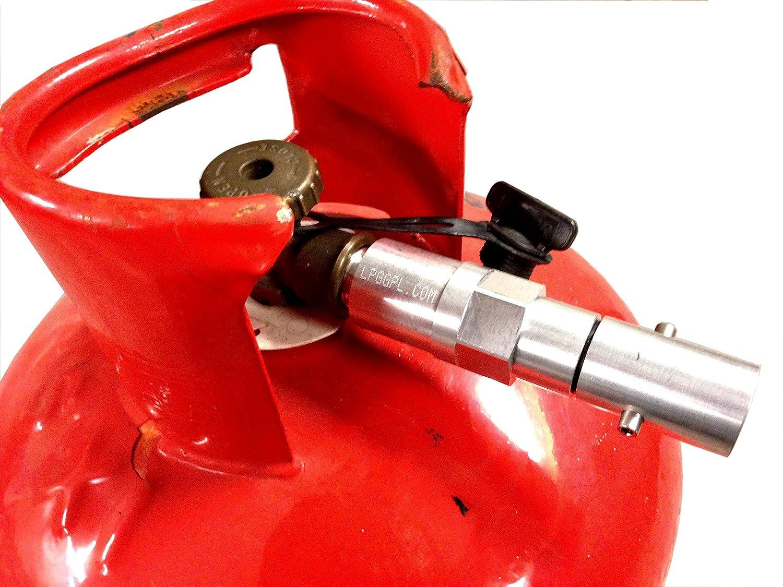 Adaptador para llenar bombonas de butano, remoto, 2 m, con válvula de no retorno, autogás, caravanas: Amazon.es: Coche y moto