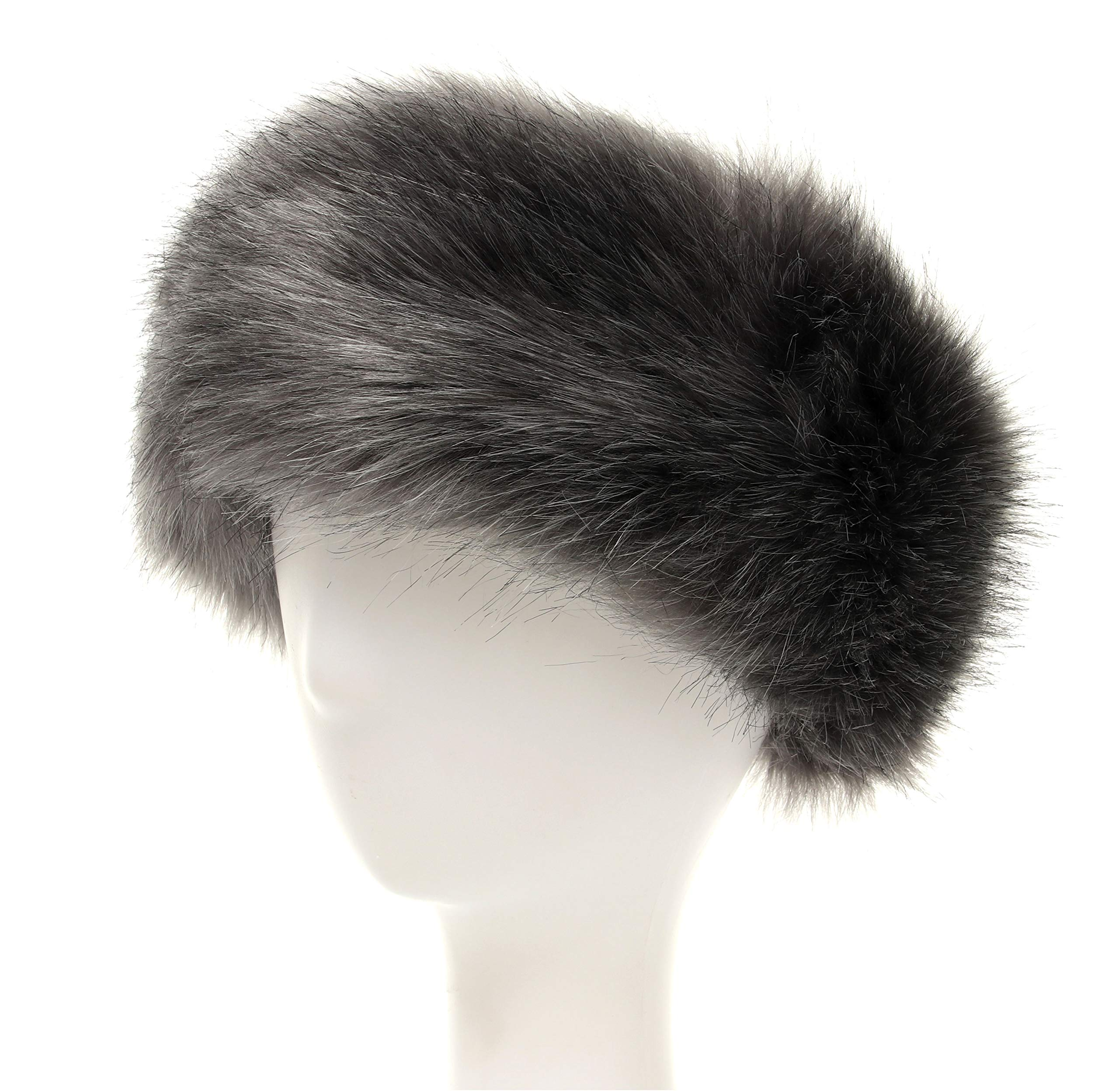 La Carrie Faux Fur Headband with Stretch Women's Winter Earwarmer Earmuff (Grey)